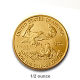 1/2 Ouce Gold Eagle (Gold Bullion)